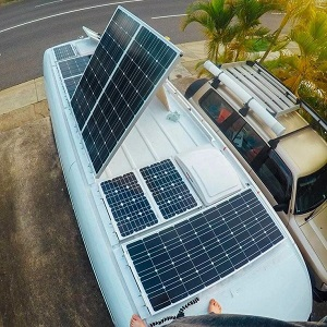 solar panel installation for caravans